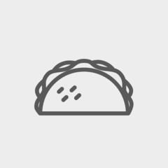 Taco thin line icon