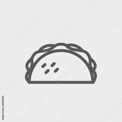 Taco thin line icon - 82205814