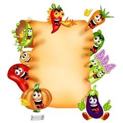 pergamena di verdure buffe