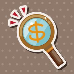 financial symbol theme elements