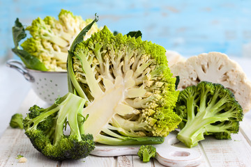 Various types of cabbage