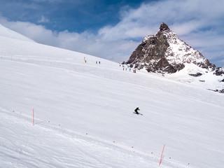 Ski slope in Zermatt ski resort, Switzerland