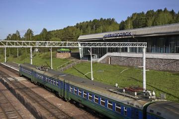 Railway station in Divnogorsk. Krasnoyarsk krai. Russia