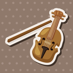 instrument violin cartoon theme elements
