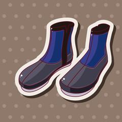 Fishing boot theme elements