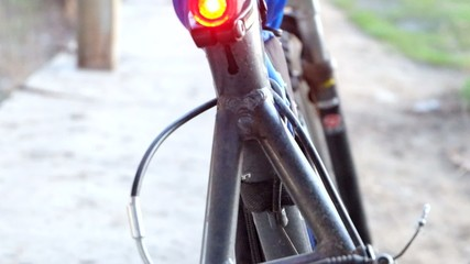 bike rear light flashing