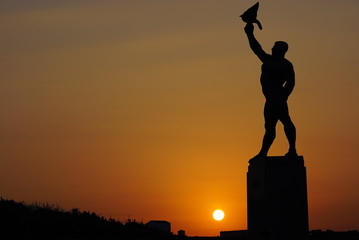 Statue in Sunset