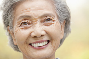 Smiling older Chinese woman