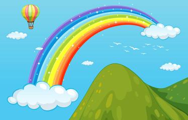 Rainbow and mountain
