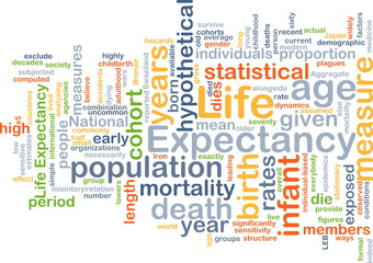 Life expectancy wordcloud concept illustration