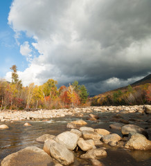 Dark clouds over the Pemigewasset River