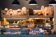 Leinwanddruck Bild - Modern bakery with different kinds of bread