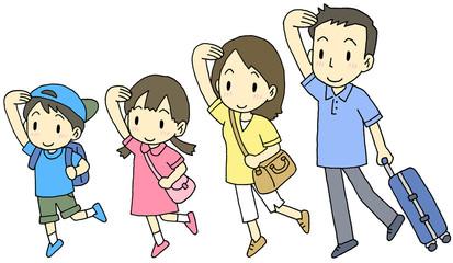 4人家族旅行