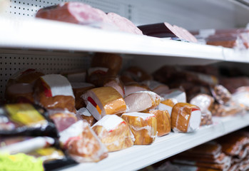 Marketplace with vacuum meat products