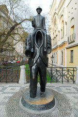 Franz Kafka Statue - Prague, Czech Republic