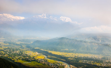 Himalaya and City from Sarangkhot