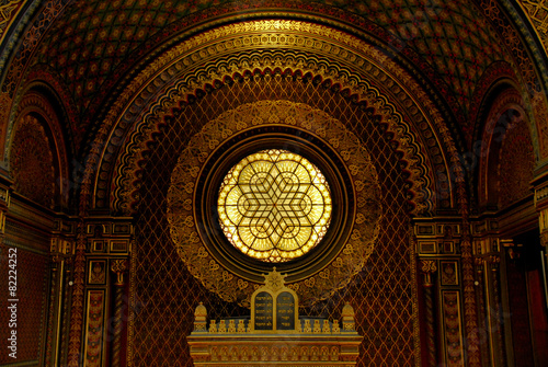 Fotobehang Praag Spanish Synagogue in Prague, Czech Republic
