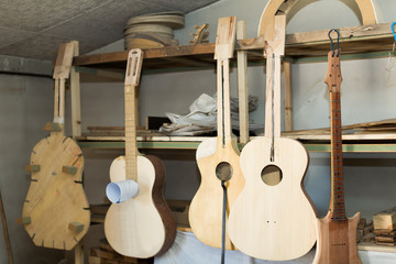 Unfinished acoustic guitars