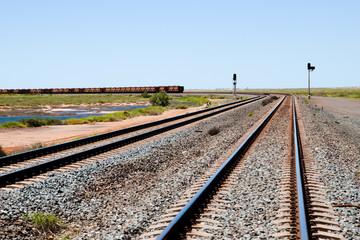 Iron Ore Train Rails - Pilbara