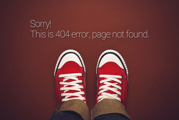 Top View of 404 Error, Page Not Found
