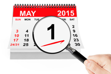 1 may 2015 calendar with magnifier