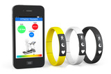 Fitness Trackers with Mobile Phone poster