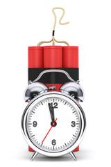 Dynamit with Alarm Clock Detonator