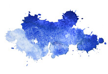 "Постер, картина, фотообои ""Abstract watercolor aquarelle hand drawn colorful blue art paint"""