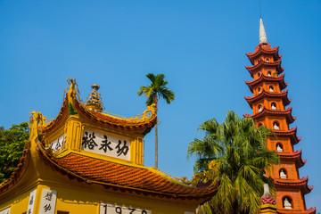 Buddhist temple in Vietnam in the capital of Vietnam in Hanoi