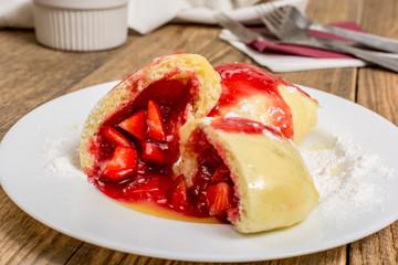 Strawberry dumpling