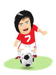 Cartoon soccer, Vector clipart illustration