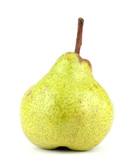 green pear isolated on a white