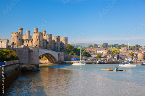 Fotobehang Noord Europa Conwy Castle in Wales, United Kingdom, series of Walesh castles