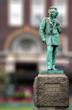 Leinwanddruck Bild - Edvard Grieg norvegian composer copper statue