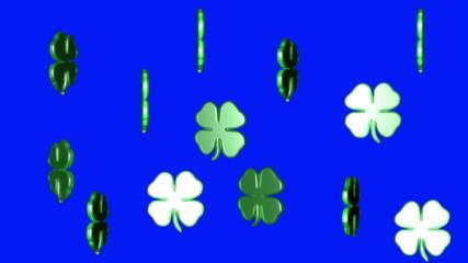 3D lucky clover group rotating