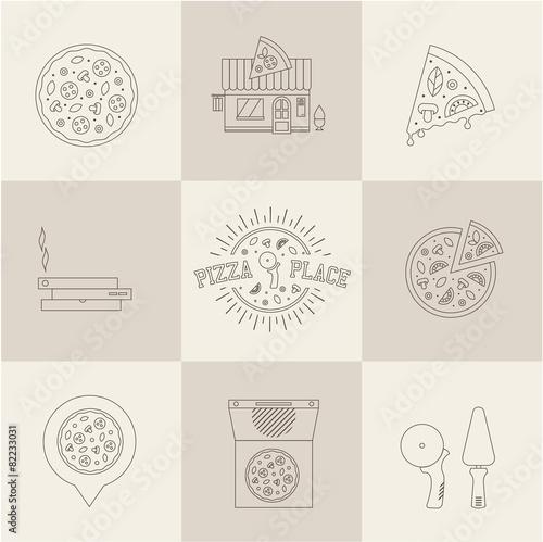 pizza icons - 82233031