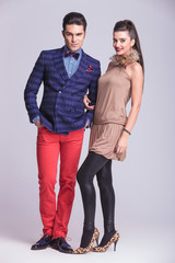 young fashion couple standing