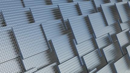 panel of rectangular shape in brushed metal