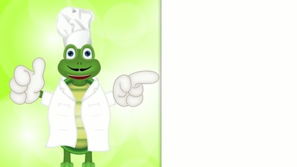 funny turtle cook cooking chef hat cartoon comic illustration