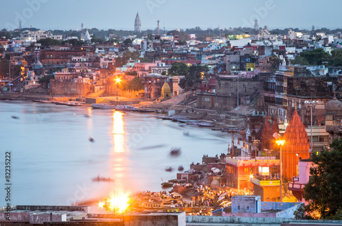 Staande foto India varanasi cityscape