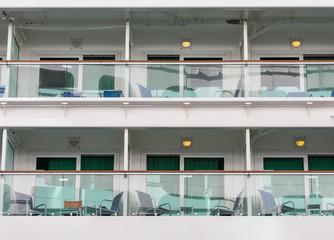 Six Verandas on a Cruise Ship