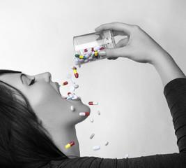 drinking pills