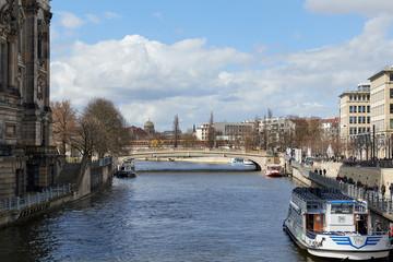 Spree river in Berlin, Germany