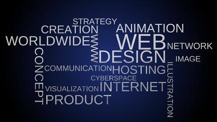 Word cloud - web, design, internet