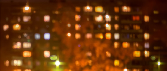 beautiful city blurring lights abstract square bokeh background