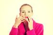Women getting facial mask