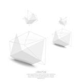 Abstract polygonal geometric shape. - 82237014