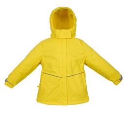 Childrens Winter warm jacket isolated on white background