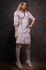 Sexy pretty young nurse