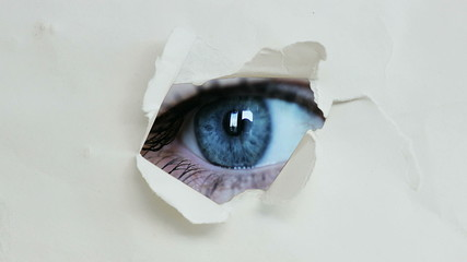 eye hole in the paper